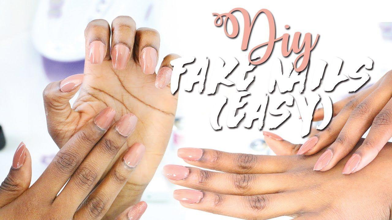 Diy easy fake nails at home no acrylic youtube fake