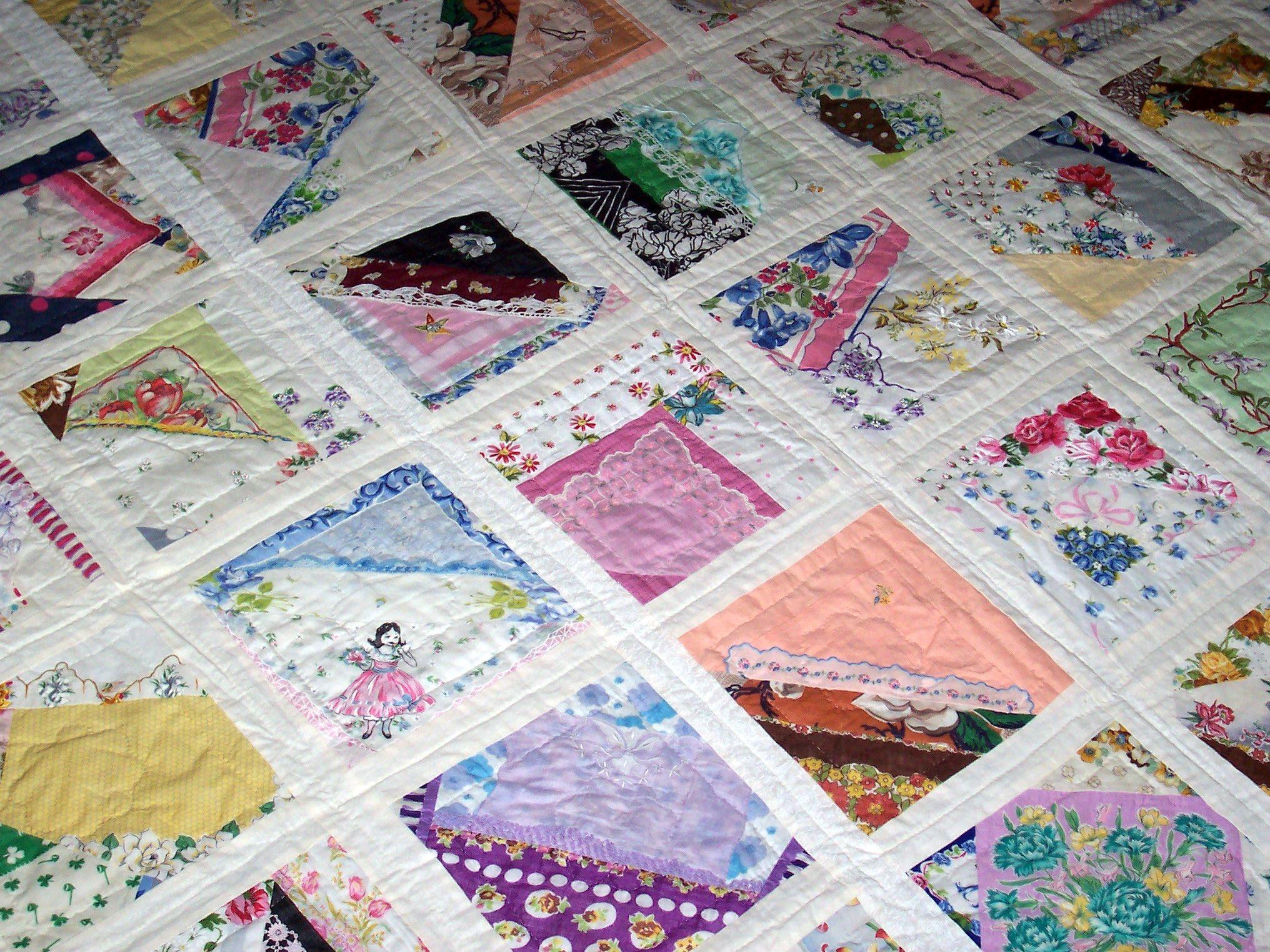 Ladies handkerchiefs make great quilts   SEW What   Pinterest ... : great quilts - Adamdwight.com