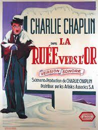 Charlie chaplin's goldrush movie poster