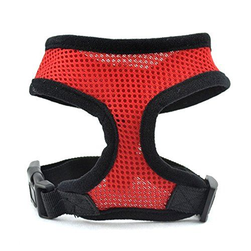 Yunt All Season Adjustable Soft Mesh Pet Dog Puppy Vest Harness Pet SuppliesRedSmall >>> Check out this great product.Note:It is affiliate link to Amazon.
