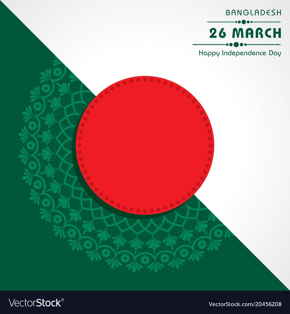 Independence day concept with bangladesh national vector