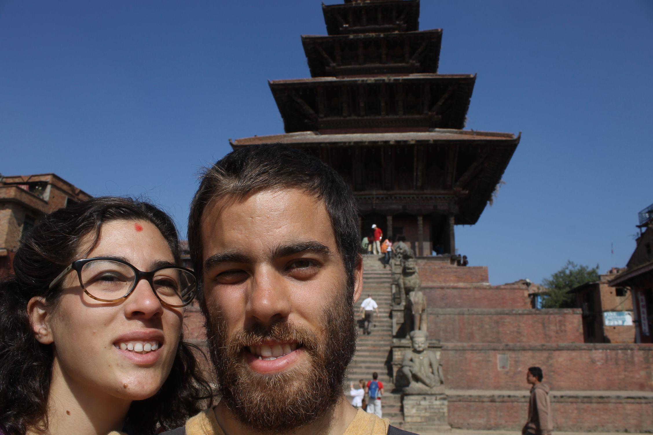 Selfie en Taumadhi Square