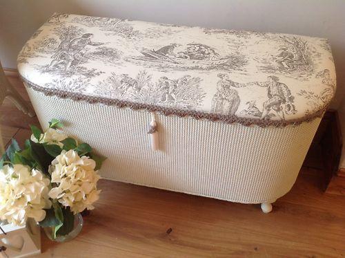 Lloyd Loom Style Ottoman Blanketbox Shabby Chic Laura