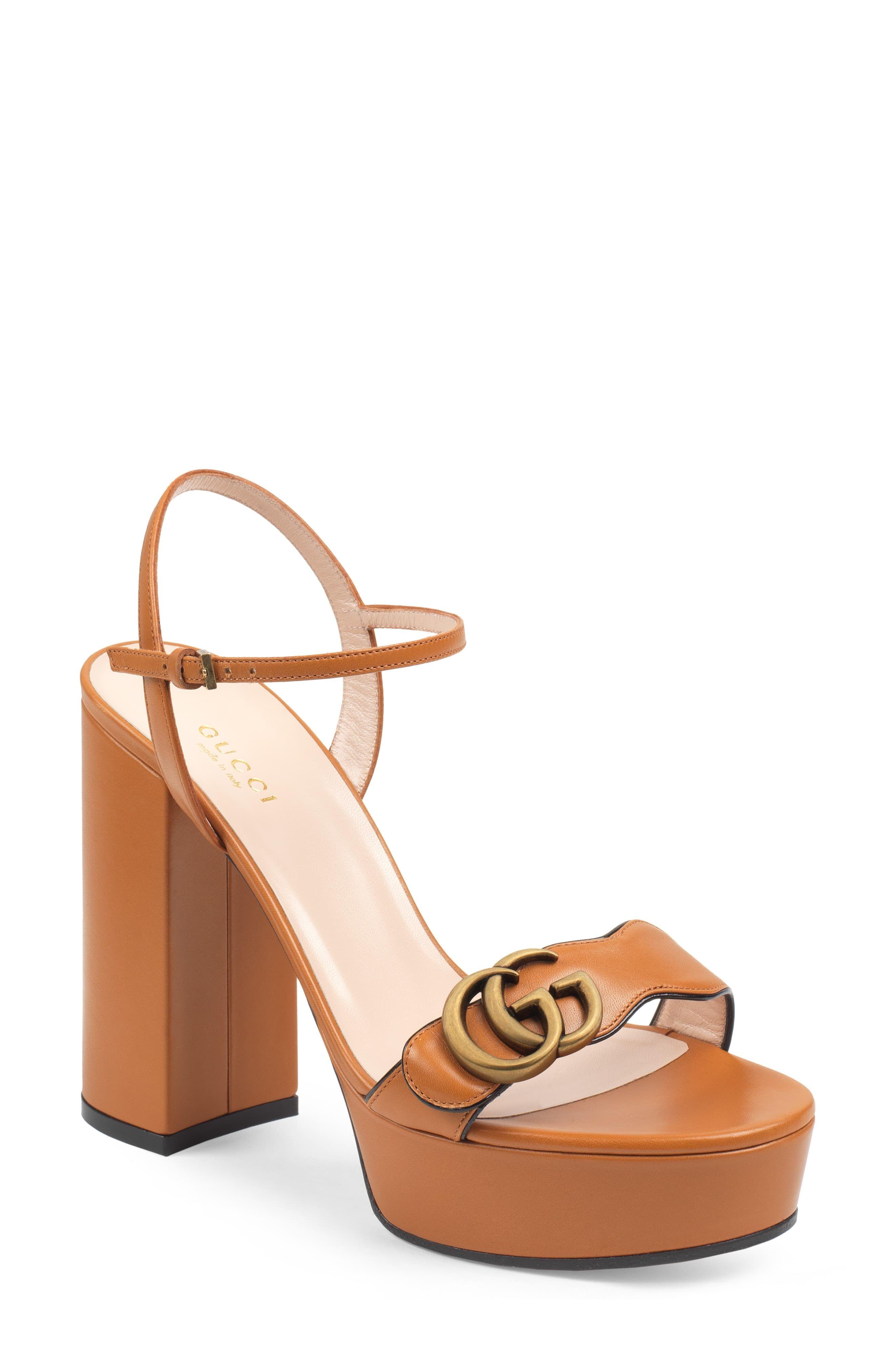 ccb45f6a5 Women's Gucci Gg Marmont Platform Sandal, Size 4US / 34EU - Brown