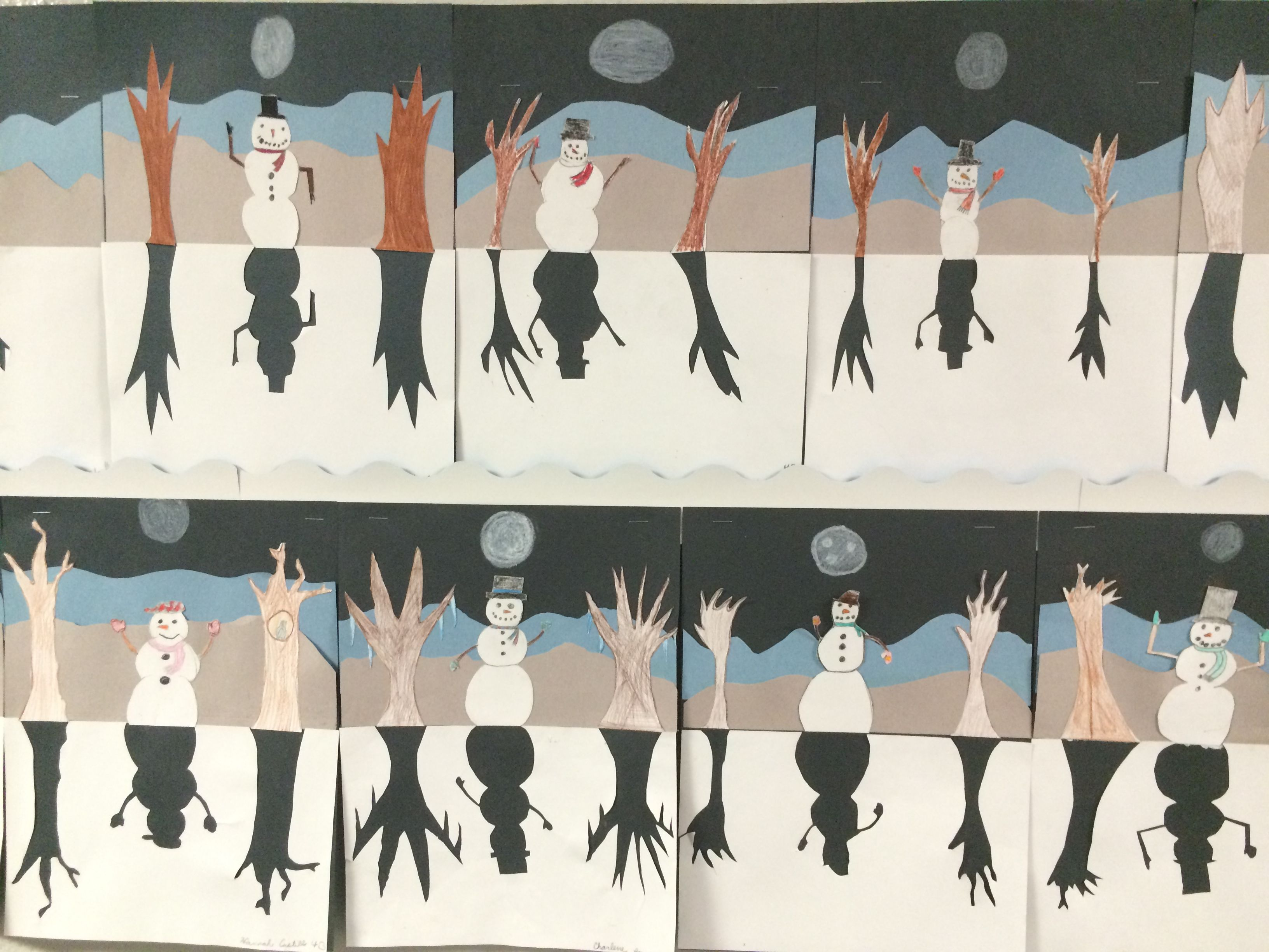 4th Grade Art Lesson On Positive And Negative Space
