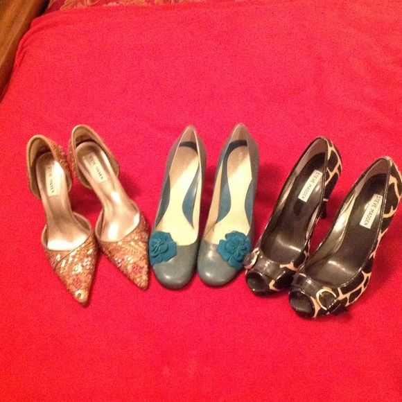 Pumps Bundle Fun colored pumps (Sparkles sz 8 & half) Leopard sz 9) Turk 8 & half) Shoes Heels