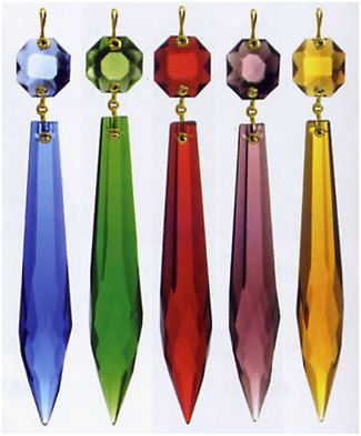 10 large 3 icicle chandelier prisms you choose color wholesale 10 large 3 icicle chandelier prisms you choose color wholesale chandelier crystals wholesale crystal prism christmas crystal ornaments aloadofball Gallery