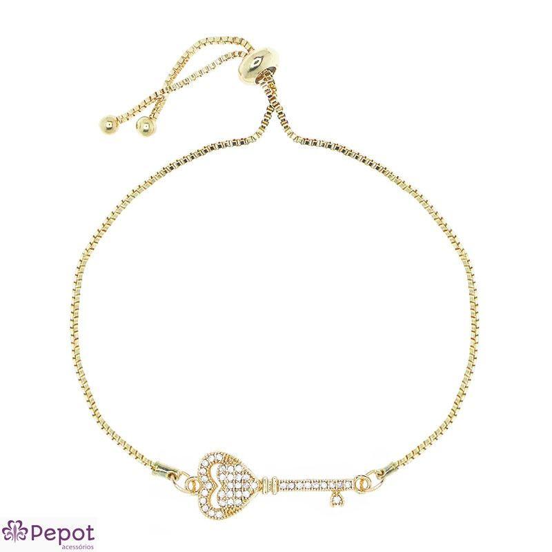 Pulseira tiffany chave inspired cor dourado   Pulseiras   Pinterest 495b36d24c