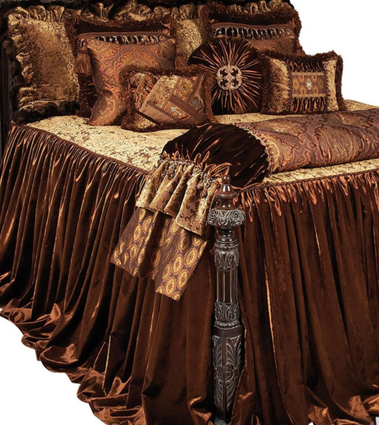 Luxury Tuscan Style High End Bedding And Accent Pillows By Reilly Chance Collection Brussels Luxury Bedding Bed Linens Luxury Luxury Bedding Sets