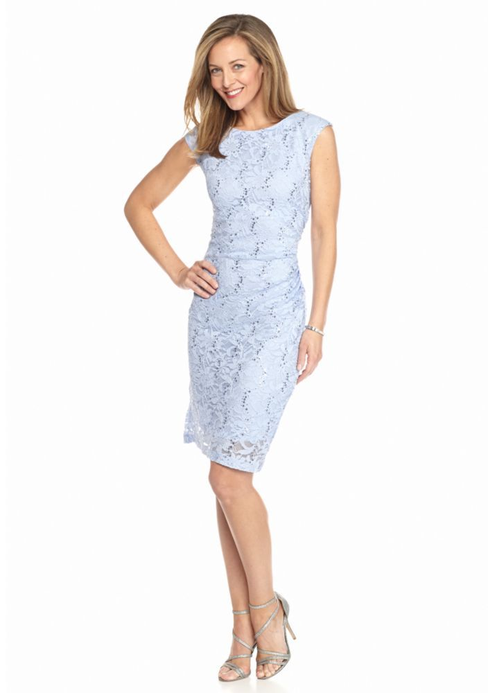 Ronni Nicole Lace and Sequin Sheath Dress - Belk.com | Weddings ...