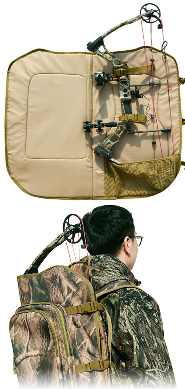 Archery Backpack Hunting Compound Bow Bag Padded Layer