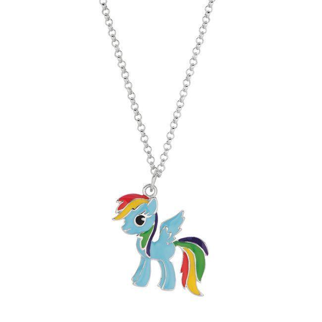 Fine silver plated rainbow dash my little pony pendant necklace fine silver plated rainbow dash my little pony pendant necklace womens aloadofball Gallery