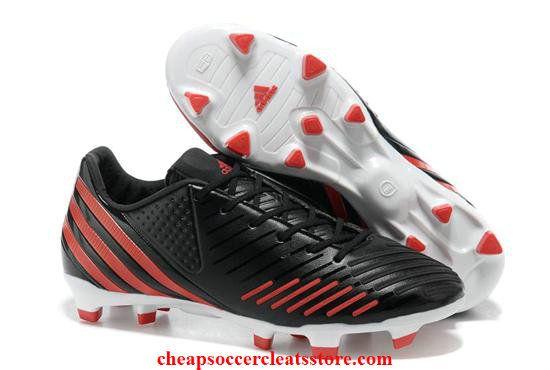 Adidas Predator LZ TRX FG negro blanco rojo zapatos de fútbol soccer