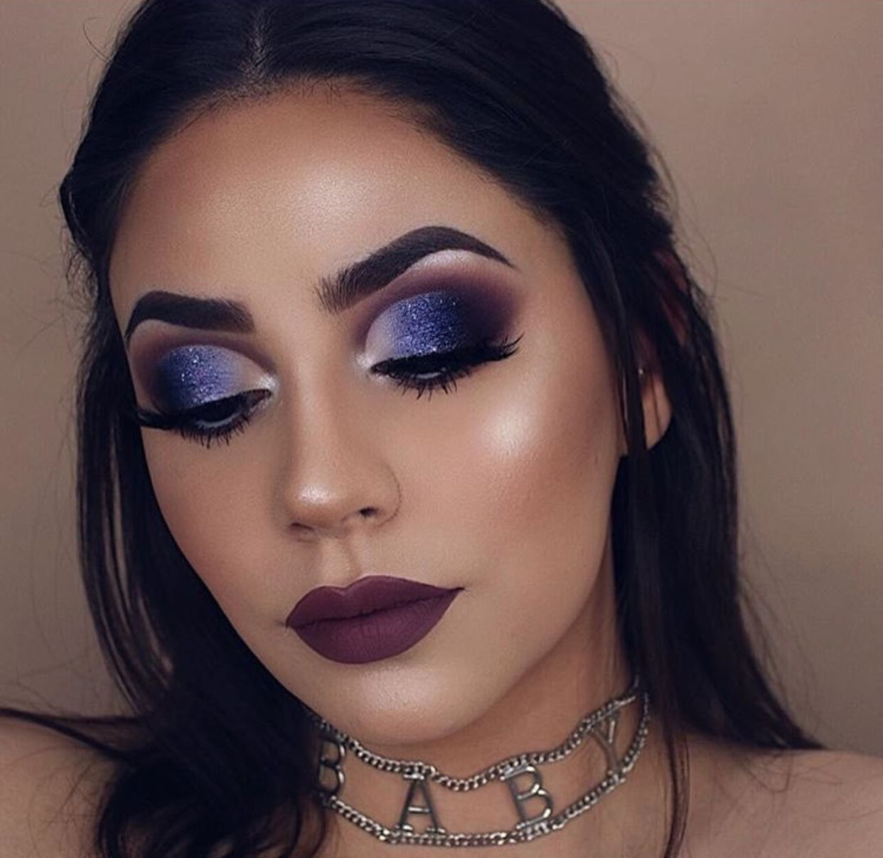 Wearing heavy eye makeup fetish