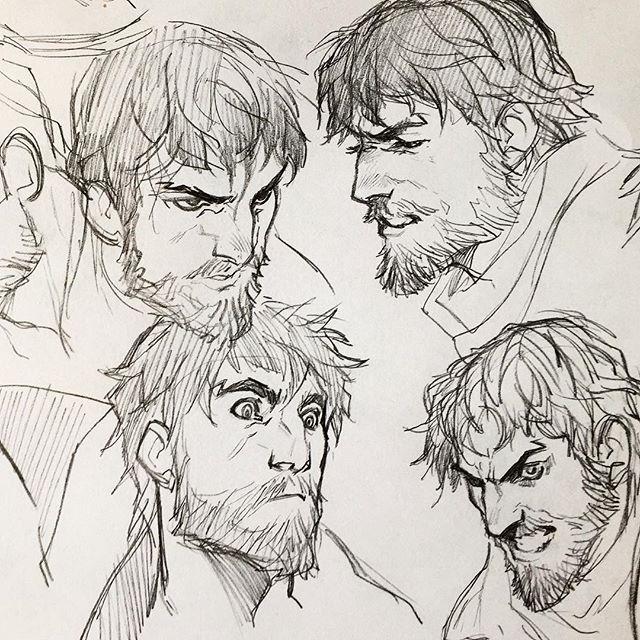 Beard ref, because I can't draw beards..