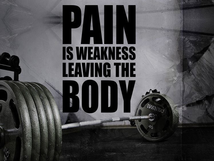 Gym wall decal for home motivational fitness pain is