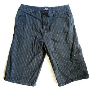 Mens Size 30 VANS Pinstripe Skate Shorts, Pockets, Skateboarding, Black. $4.99