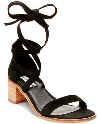 2be53904e37 Steve Madden Women s Rizza Lace-Up Block-Heel Sandals