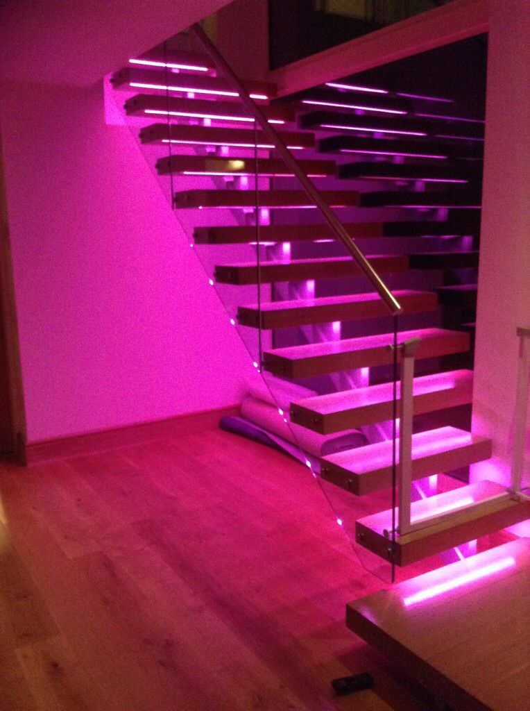 Colour Change Leds Recessed In Each Tread Dream Rooms