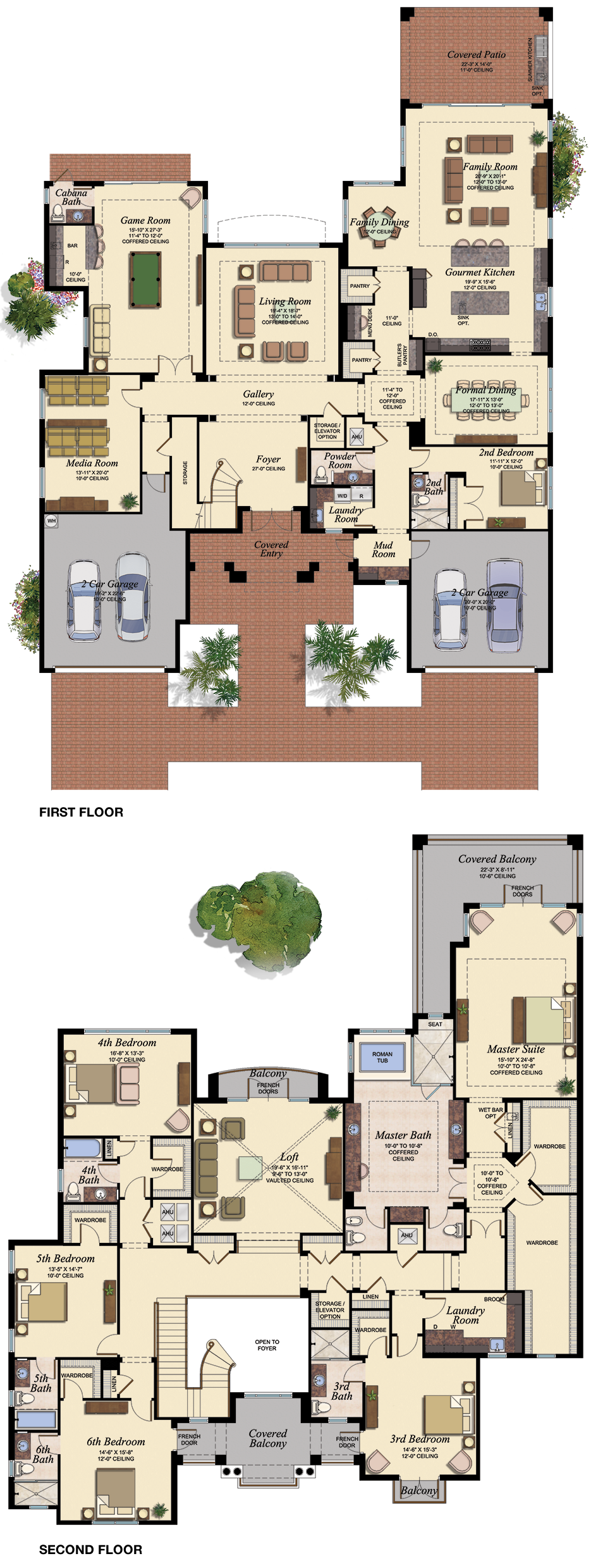 2 Storey Floor Plan Bed 2 As Study Garage As Gym House Layouts House Blueprints Luxury House Plans