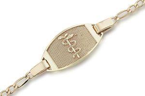 10k Gold Medical Medic Id Alert Bracelet Free Engraving Alert Bracelet Medical Alert Jewelry Black Hills Gold Jewelry
