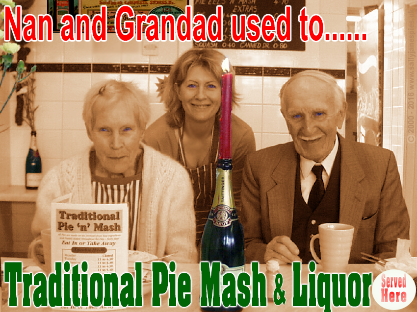 Classic Pie and Mash Poster Series 'Nan and Grandad' #pieandmash #pienmash #jelliedeels #sallyjanes #felixstowe