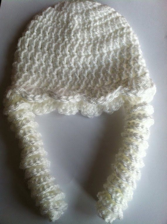 "Ruffles and Curls"" Crochet Baby Hat Crochet Baby Hat for 0 – 3 ..."