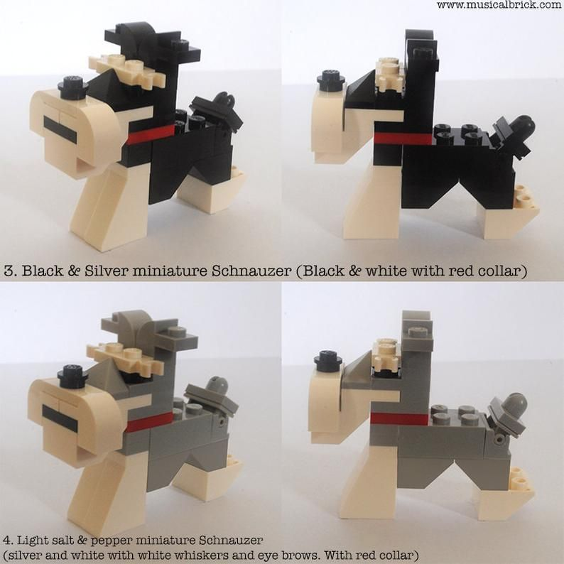 Customisable Lego Miniature Schnauzer in 2020 Miniature