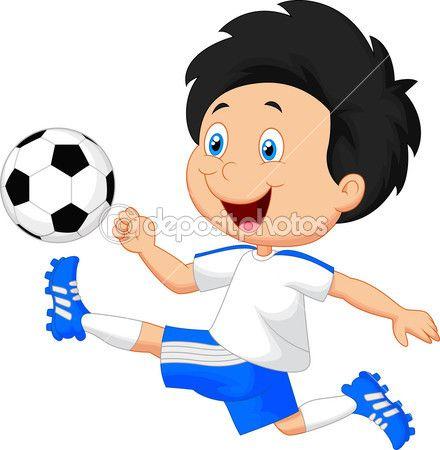 Nino De Dibujos Animados Jugando Al Futbol Football Kids Soccer Boys Charity Logos