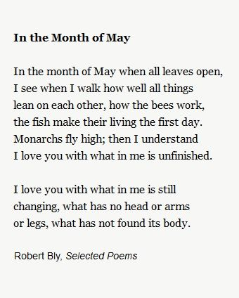 In The Month Of May Robert Bly Quotes Poems Poetica