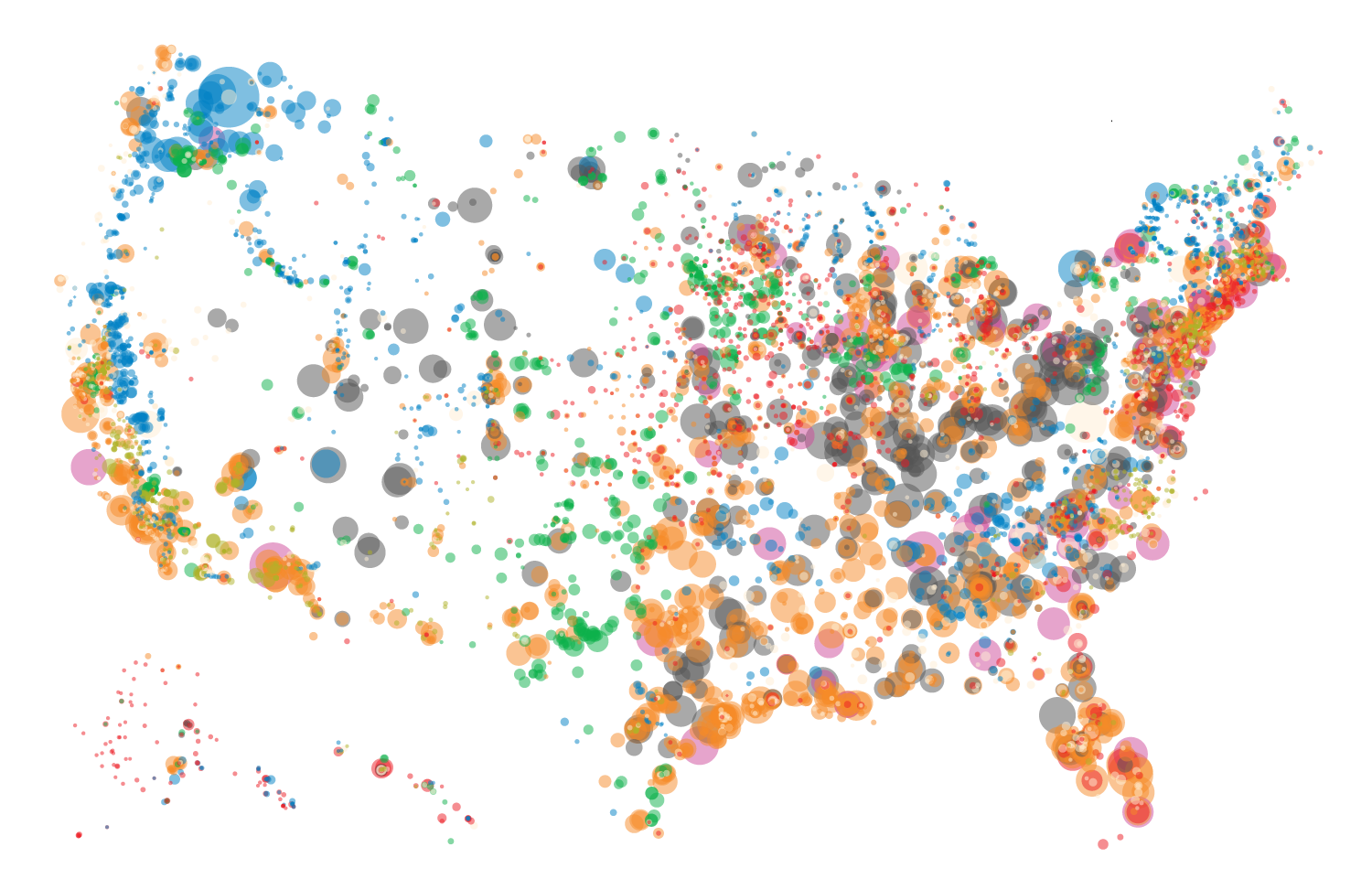 Mapping how the United States generates its electricity