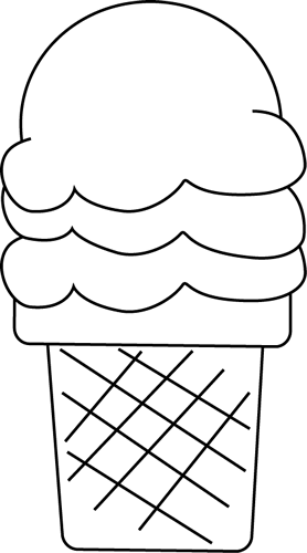 Black And White Ice Cream For I Coloring Bookmarks Clip Art Black And White