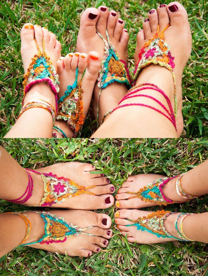 Crochet Pattern for FREE Goddess Barefoot Sandals