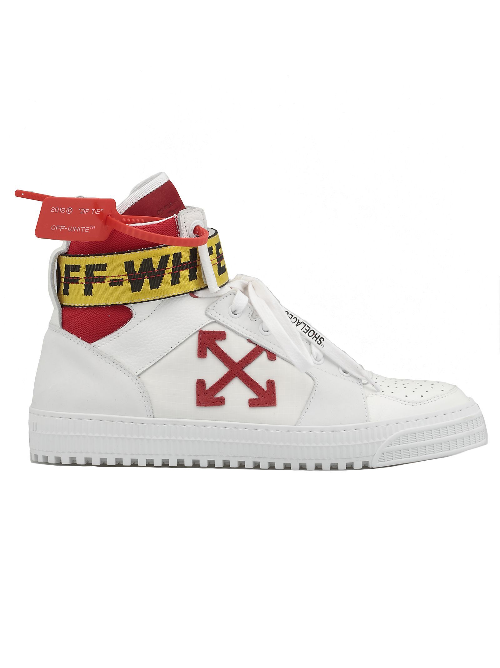 Off White Shoes Industrial Full-grain Leather, Suede And Ripstop High-top Sneakers ...