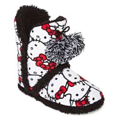 8979650be Hello Kitty® Pom Pom Print Boot Slippers found at @JCPenney | Hello ...
