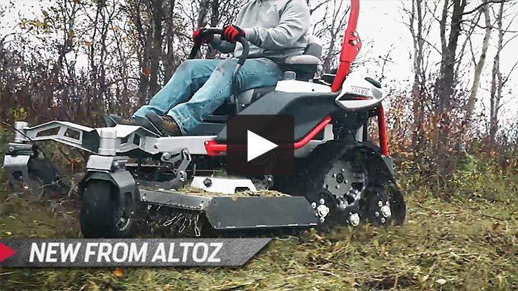Altoz Trx World S First Zero Turn Track Mower Landscaping Equipment Monster Trucks Utility Trailer
