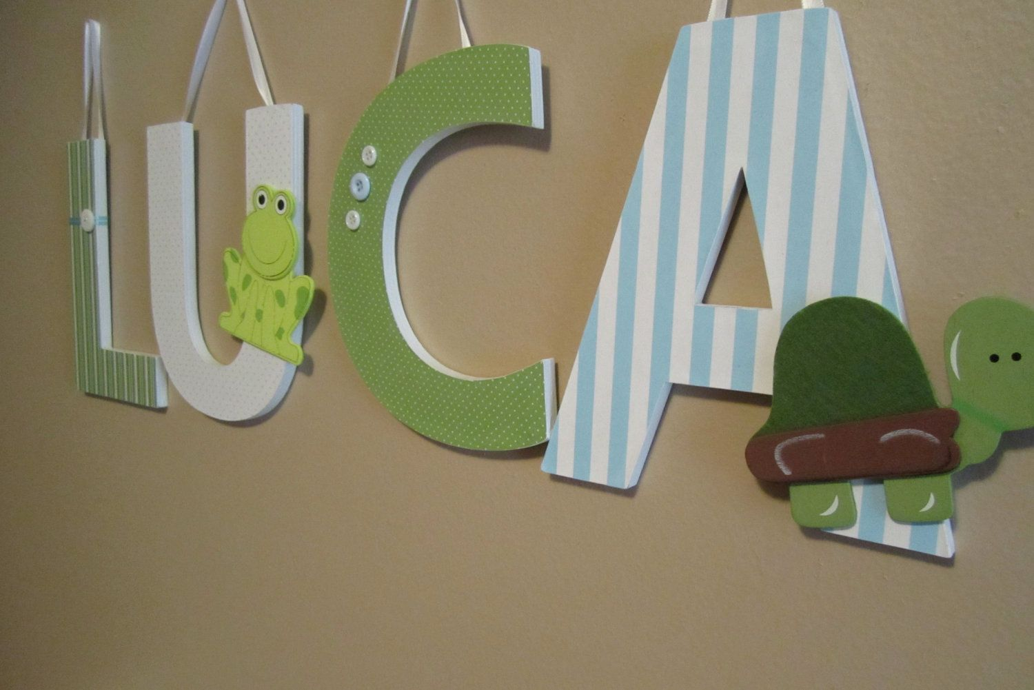 Custom Nursery Letters-Turtles and Frogs Theme-hanging ... - photo#32