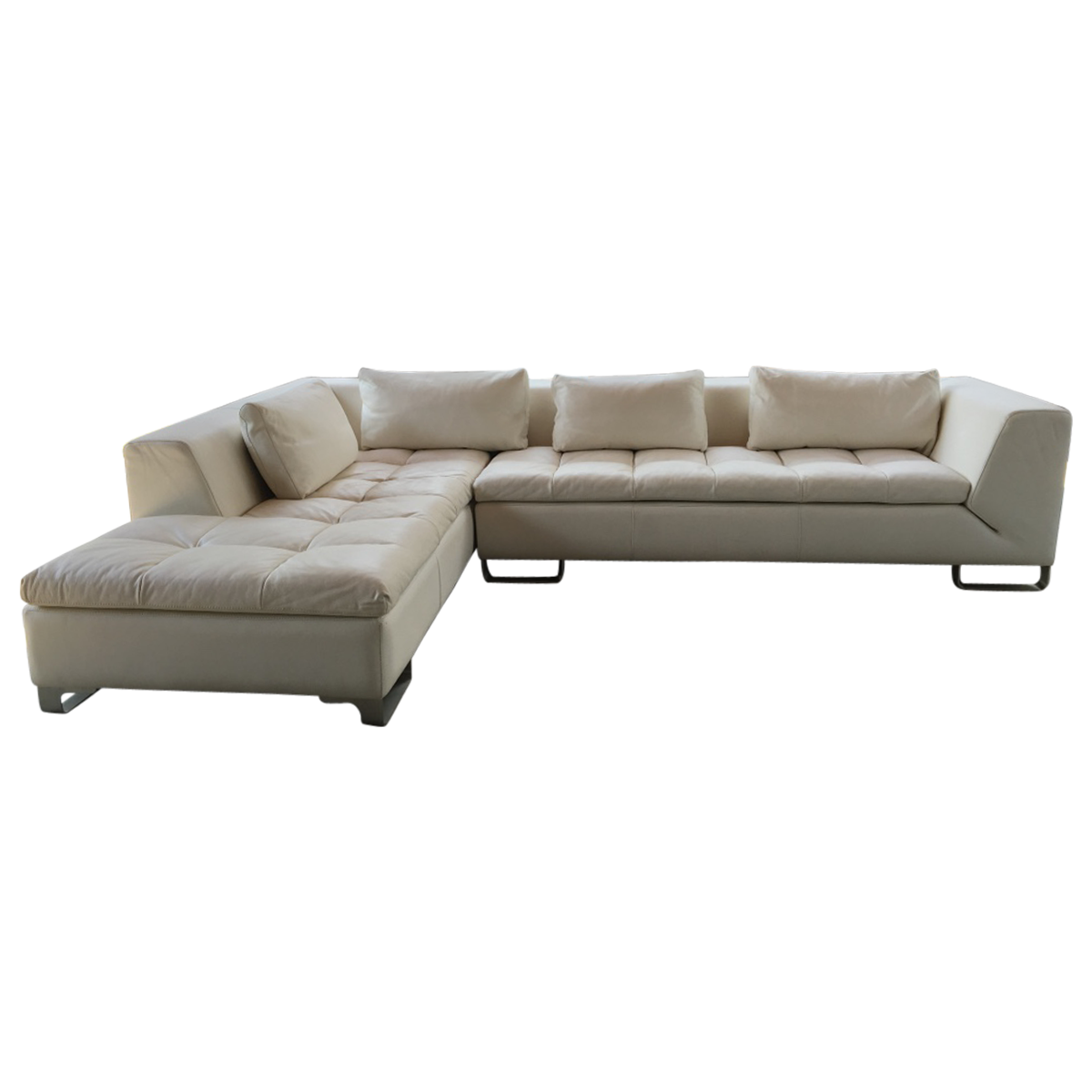 White Leather Sofa Sectional Family Room White Leather Sofas
