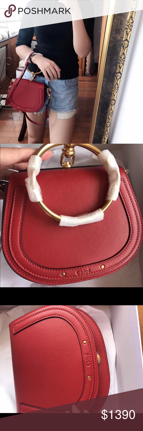 e9790907b7 Chloe Nile small red Got few new bags as gifts. Wanna sell this one in  person in NYC, cash only, no trade. Brand new, never used.