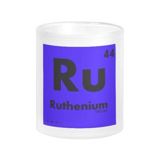 44 tabla periódica del rutenio | de elementos taza de cristal