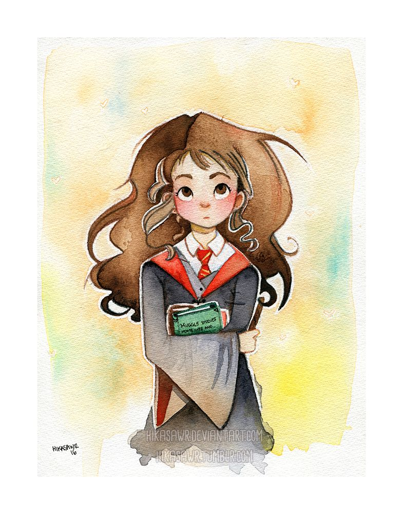 Watercolor Of Hermoine Granger Credit To Reddit User U Hika
