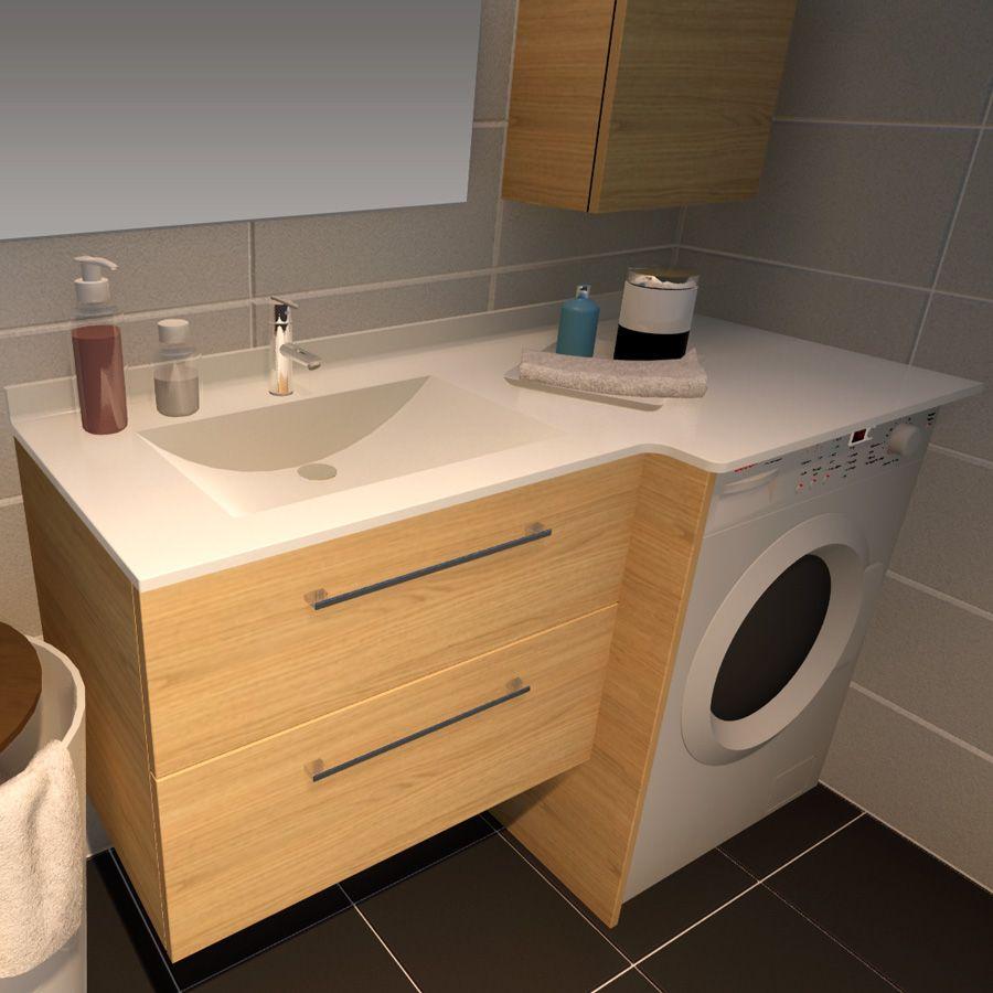28++ Meuble salle de bain lave linge ideas