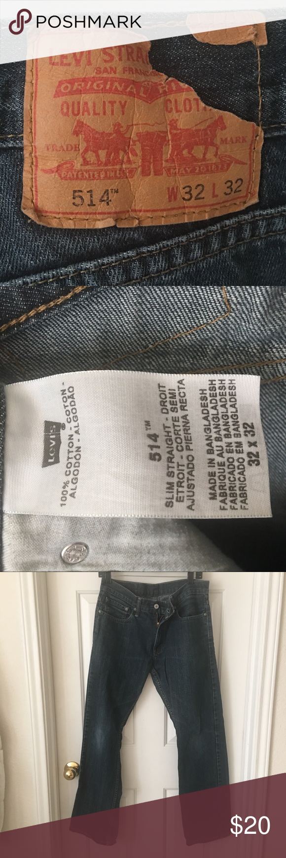 3cf86698f80 Men's 514 Levi's Slim Straight Jeans Men's 514 Levi's 👖 Style: Slim  Straight Size: 32 x 32 Pre loved with lots of life left in them 👍🏼 None  smoking ...