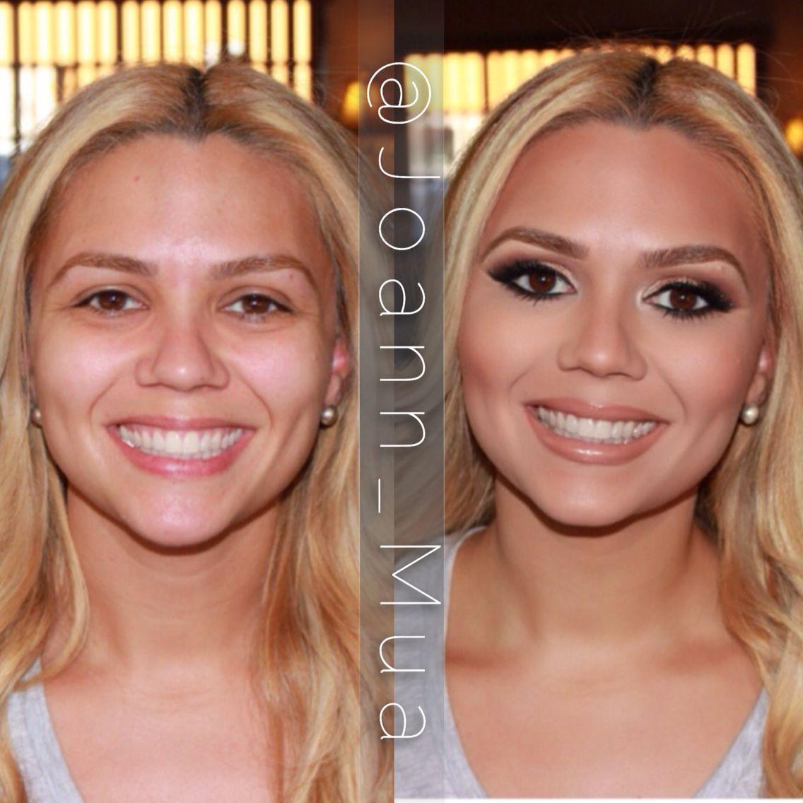 Makeup transformation by Joann Wiltshire. Instagram @Joann_Mua