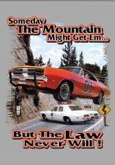 """Someday Mountain Might Get'em"" Fridge Magnet (Charcoal)"