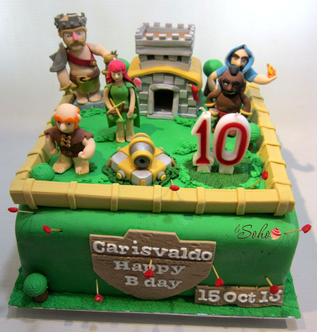 Clash Of Clans Cake With Images Clash Royale Cake Clash