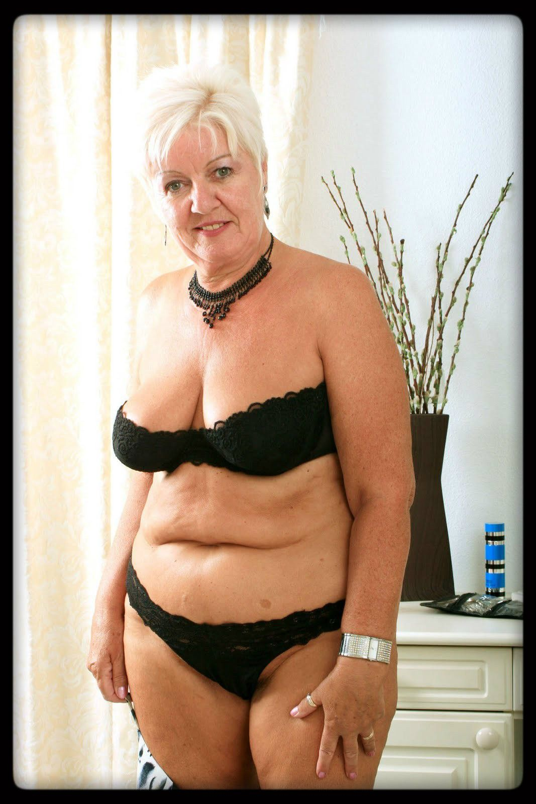 bbw granny in black bra and panties | mature | pinterest | black bra
