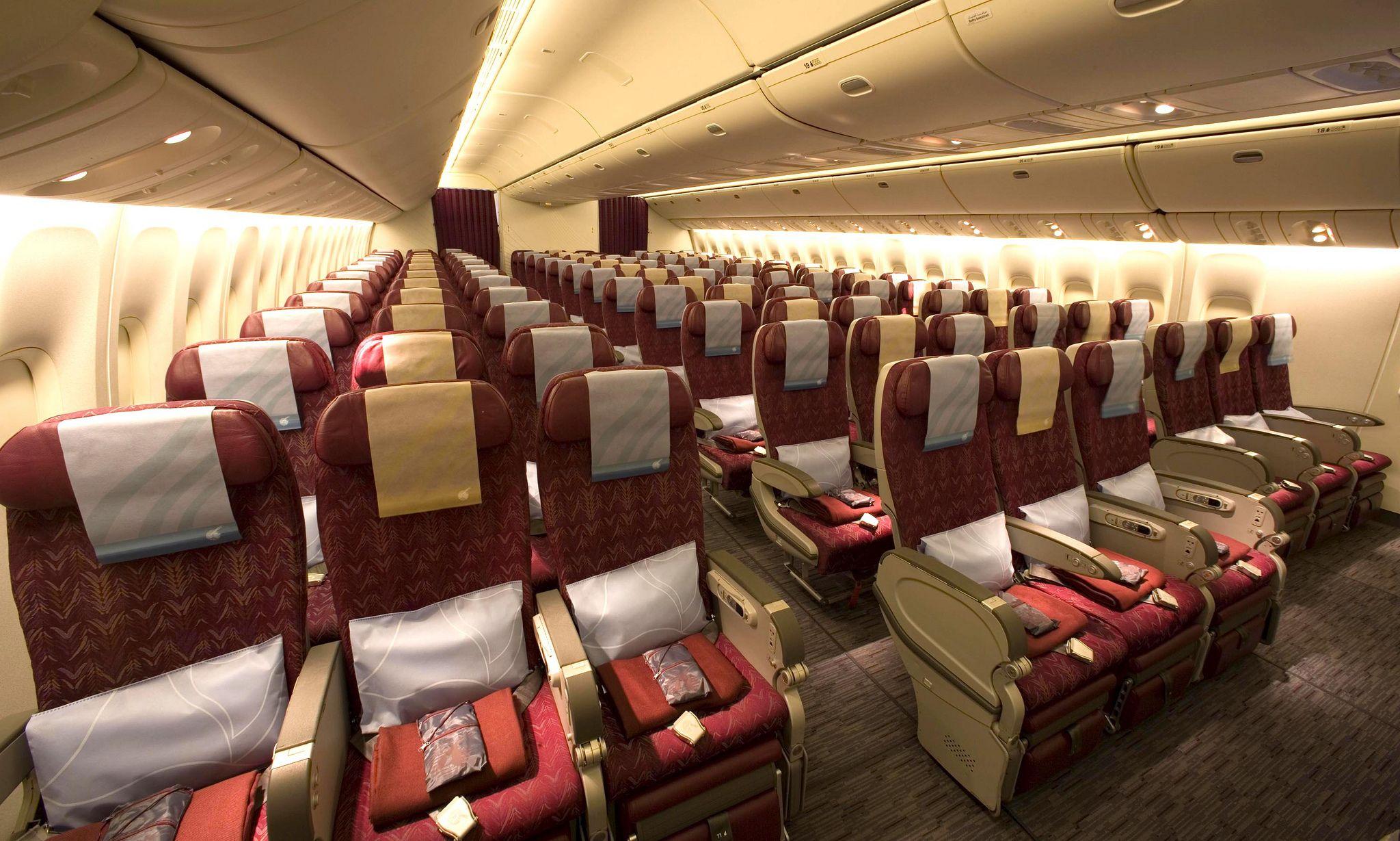 Pic 26 Qatar Airways Boeing 777 200lr Economy Class First Class
