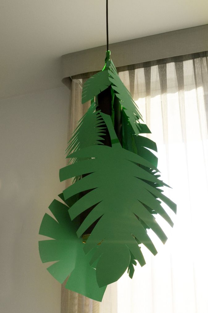 Jungle party_leaves lamp decoration