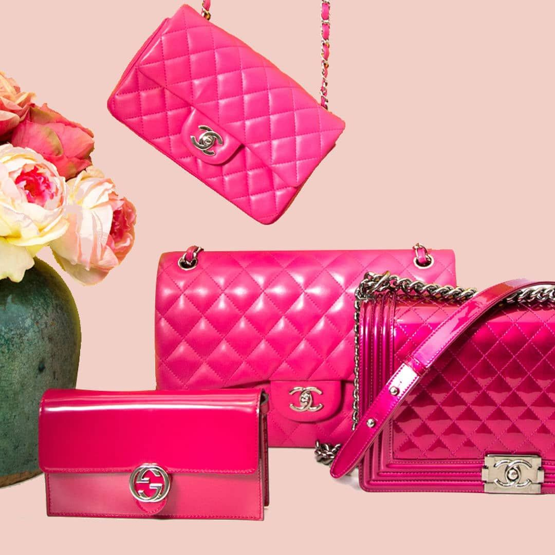89a4625d2be259 Drooling over these pink beauties. #labellov #lovelabellov #chanel  #chanellover #chanelbag #guccibag #gucci #designer #designerbags  #vintagebags #pinkbags